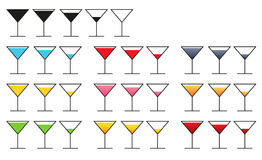 Big collection of 10 sets of glass icon with different kinds (co Royalty Free Stock Photo