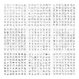 Big collection of 9 sets thin line icon. Stock Photo