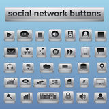 Big collection of social network buttons Royalty Free Stock Photo