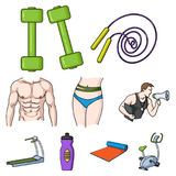 Big collection of sport and fitness vector symbol stock illustration Stock Photo