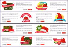 Big collection super choice christmas sale banners. Big collection super choice Christmas sale web banners with push buttons read more and buy now, Santa Claus Royalty Free Stock Photography