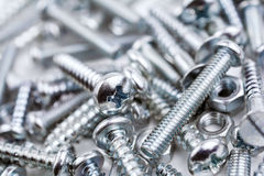 A Big Collection Of Various Iron Screws and Bolt Nuts #3 Stock Photography