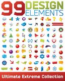 Big collection of vector icons. 99 design elements Stock Photo