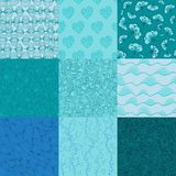 Big collection of vector seamless patterns for Stock Image