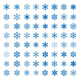 Big collection of Vector Snowflakes. Royalty Free Stock Photos