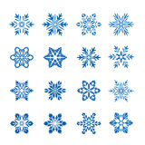 Big collection of Vector Snowflakes. Royalty Free Stock Photo