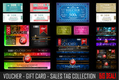 Big Collection of Voucher Gift Card layout templates Stock Photos