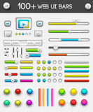 Big collection of web ui elements. vector Royalty Free Stock Photography