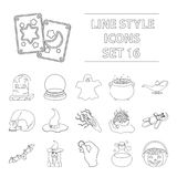 Big collection of and white magic vector symbol stock illustration Royalty Free Stock Images
