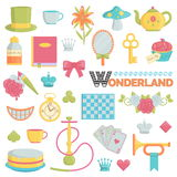 Big collection of wonderland icons Stock Photography