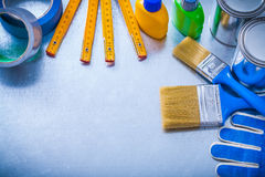 Big collection of working paint articles on Stock Image