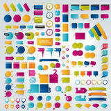Big Collections of infographics flat design elements. Stock Image