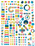 Big Collections of infographics flat design elements. Stock Photography