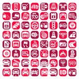 Big color auto icons set Stock Image