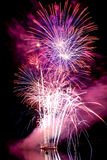 Big color large fireworks over the water Royalty Free Stock Photo
