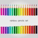 Big color pencil set Royalty Free Stock Image