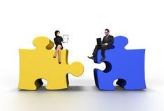 Big color puzzle Stock Photo