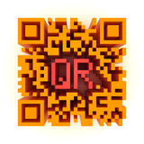 Big color QR-code Royalty Free Stock Photography