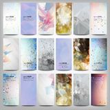 Big colored abstract banners set. Conceptual. Triangle design vector templates. Modern abstract banner design, business design and website templates Royalty Free Stock Photos