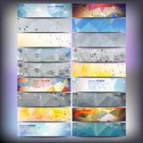 Big colored abstract banners set. Conceptual. Triangle design vector templates. Modern abstract banner design, business design and website templates Stock Image