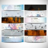 Big colored abstract banners set. Conceptual Stock Photo