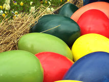 Big colored easter eggs Royalty Free Stock Photography