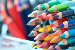 Big colored pencils Royalty Free Stock Image