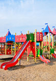 Big colorful children playground equipment Stock Image
