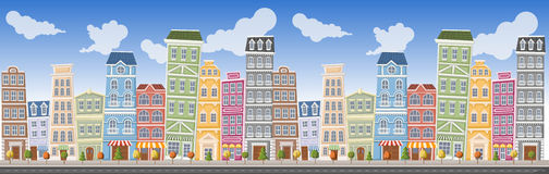 Big colorful city landscape Royalty Free Stock Images