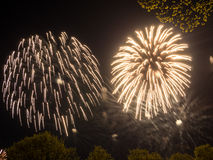 Big colorful fireworks Royalty Free Stock Image
