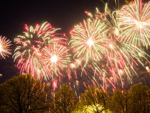 Big colorful fireworks Royalty Free Stock Photo