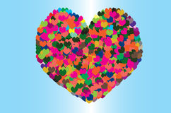 Big colorful heart Royalty Free Stock Photo