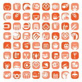 Big color kitchen icons set Stock Photo