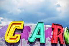 Big Colorful Letters stock photography