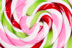 Big colorful lollipop close up Stock Image