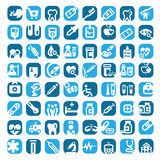 Big color medical icons Stock Image