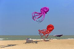Free Big Colorful Of Balloon Kite On The Beach In Thailand Royalty Free Stock Photo - 178984865