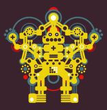 Big colorful robot #1. Stock Images