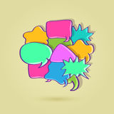 Big Colorful Speech Bubble. Made From Small Chat Signs. Illustration vector illustration