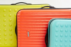 Big colorful suitcases macro. Stock Photography