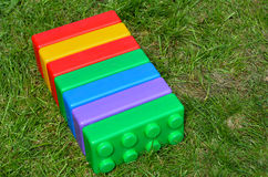 Big colorful toy blocks Stock Image