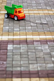 Big colorful truck left behind on the road Stock Images