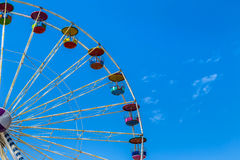 Big colourful ferris wheel in amusement park Stock Photo