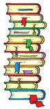 Big column of books. Vector illustration stock illustration