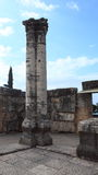Big Columns in the Capernaum Synagogue Royalty Free Stock Image