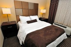 Big and comfortable lodging. With large bedroom Stock Images