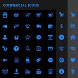 Big commercial icon set royalty free illustration