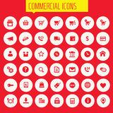 Big commercial icon set Stock Photo