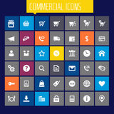 Big commercial icon set Stock Image