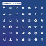 Big commercial icon set Royalty Free Stock Photo